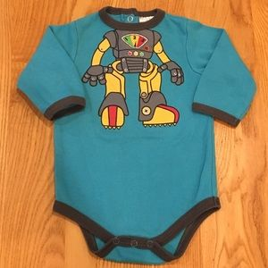 Baby Essentials Long Sleeve Robot Onesie 6 Months